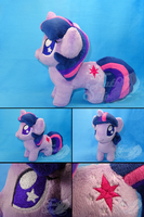 Chubby Chibi Twilight Sparkle Plush by FeatherStitched