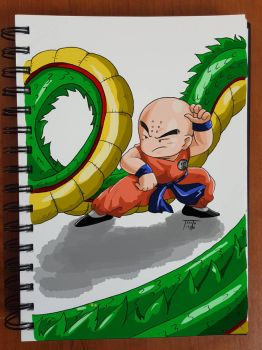 Day 145 Krillin by TomatoStyles