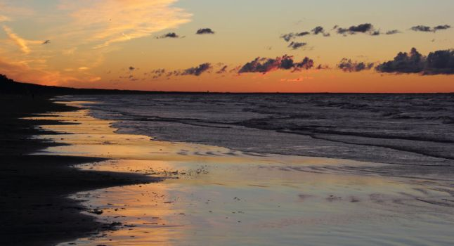 Seascape in Afterglow by BeachMariner