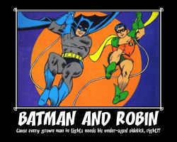 Batman and Robin Motivator by Ashanime777