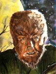 Wolf Man - Lon Chaney, Jr. - Universal Monsters #6 by smjblessing