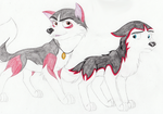 Huskies For Stitch by The101stDalmatian