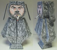 Wilfred paper toy by Ditch-scrawls
