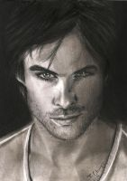 Ian Somerhalder ~ Damon Salvatore by tedwiges