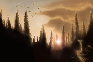 Crows by Rahona