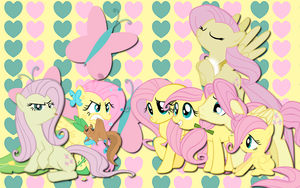 Fluttershy Everywhere WP by AliceHumanSacrifice0