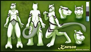Kaezon Ref Sheet by Zambuka by Shaddowed-Figure