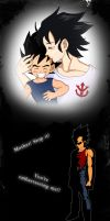 Mother and Son - Vegeta's memory by Foxygene