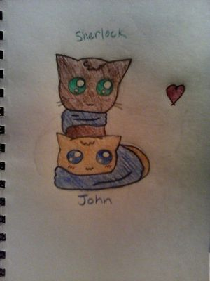 Johnlock Kitties by PhantomhiveButler427