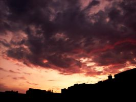 Sunset Over Berlin 90 by ErinM2000