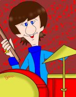 The Beatles Cartoon Ringo Starr by Cygnus-X-2