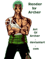 Zoro Render by ArtOfArcher