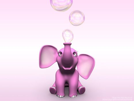 Pinky The Pink Elephant by Ziwon
