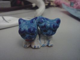 Miniature Sculpey Shisa Lion Dogs by kittenScientist