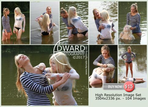 Catfight in water -104 HiRese images in set- $ 13 by Edward-Photography-2
