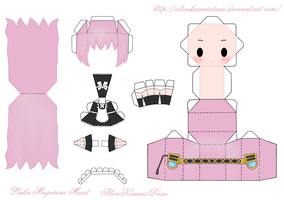 Luka Megurine Maid Papercraft by AliceKawaiiDesu