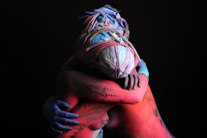 Love Abstract Bodypainting by KazimBodypainting