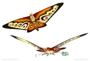 Mothra Redesign by Osmatar