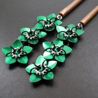 Green Steampunk Scale Flowers by Utopia-Armoury