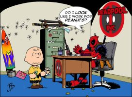 Deadpool Vs. Charlie Brown by BenSteamroller