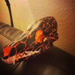 lava painted coyote skull by inkednativedesigns