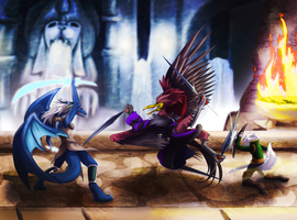 Extra commission: Bridge battle by Fly-Sky-High