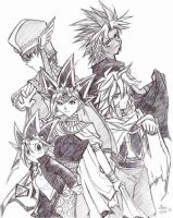 YuGiOh peoples -sketch by songosai