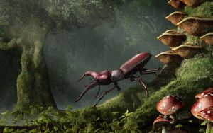 Stag Beetle by deskridge