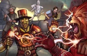 Steampunk Ironman by Battlewraith