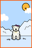 lola the polar bear by sooperdave