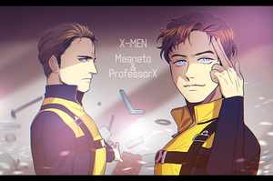 X-MEN  Magneto ProfessorX by BAK-Hanul