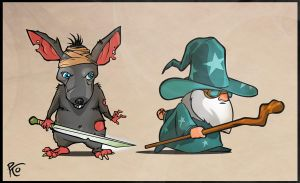 rat vs mage by pykotta