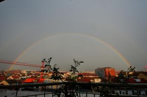 Turin - Rainbow over the hill by phakeplastic