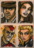 Indiana Jones cards BATCH 1 by grantgoboom