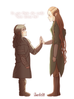 Kili and Tauriel by ChocoHal