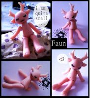 Tiny Faun doll by bolt-for-home