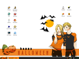 Halloween Desktop by Cosmic-Castaway