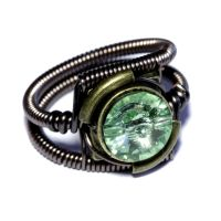 Steampunk Jewelry - RING - Chrysolite Green by CatherinetteRings