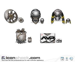 Alien vs Predator Vista Icons by Iconshock Iconos para Windows XP