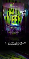 Free Halloween PSD Flyer Template by ImperialFlyers