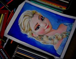 Elsa .  sketched #prismacolor by AnshumanSketchbook