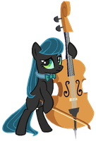 Octavia in Queen Chrysalis's colors by AdolfWolfed4Life