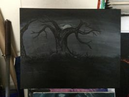 Creepy tree by m4rk2003