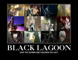 The Badass Women of Black Lagoon by aniasnguyen
