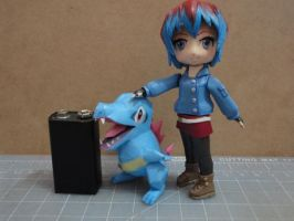 Totodile papercraft Size comparison by BRSpidey
