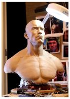 Arnold Schwarzenegger 1:1 WIP shoulders and chest by Pedro-Moretto