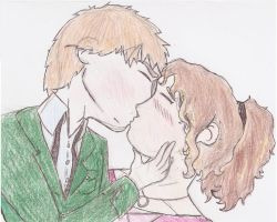 Fya and Maria's first kiss by sgste