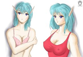Elf girl combo by Cat-girl-aholic