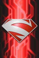 Superman Red Circuit background by KalEl7