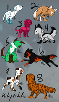 Pup Adoptables Set 1 |CLOSED| by Inkk-adopts